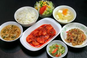 特ランチ 乾焼蝦仁 (海老のチリソース)